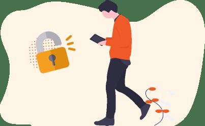 Abertura por crachá ou pelo celular